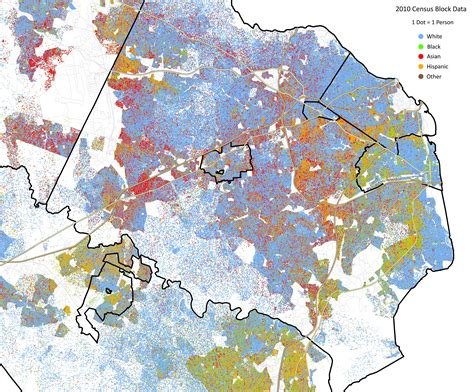 northern virginia map ig of the day race distribution in virginia bacon s