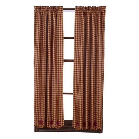 short panel curtains burgundy star scalloped short panel set curtains rustic