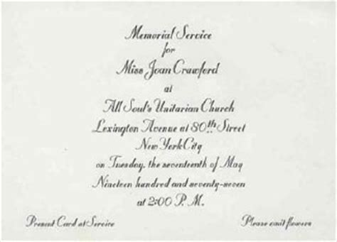 Memorial Service Invitation Letter Memorial Invitations 1700 Memorial Announcements Invites Invitations Ideas