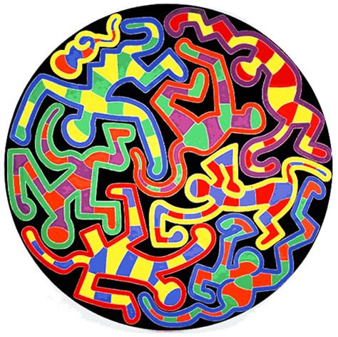 Haring Artwork by Monkey Puzzle Keith Haring