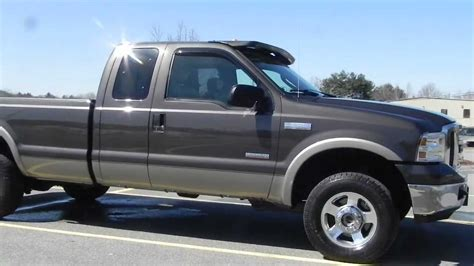f250 long bed 2005 ford f250 lariat extended cab long bed 4x4 6 0l power stroke diesel loaded youtube