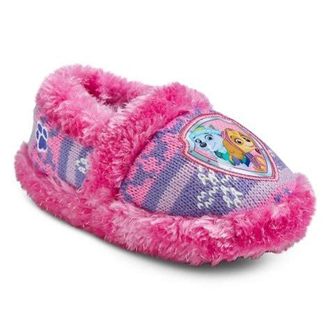 paw patrol slippers paw patrol toddler s slippers pink target
