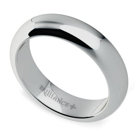 comfort fit s wedding ring in platinum 5mm