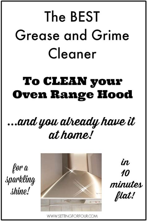 how to clean range fan easy way to clean an oven range from grime to shine