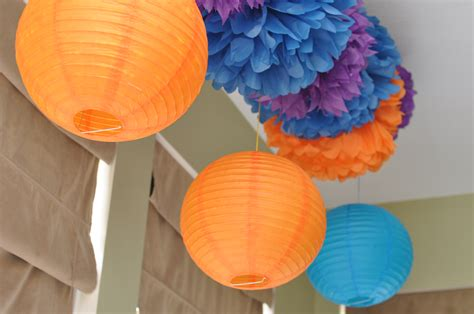 How To Make Tissue Paper Lanterns - pom pom lanterns lifewithcake