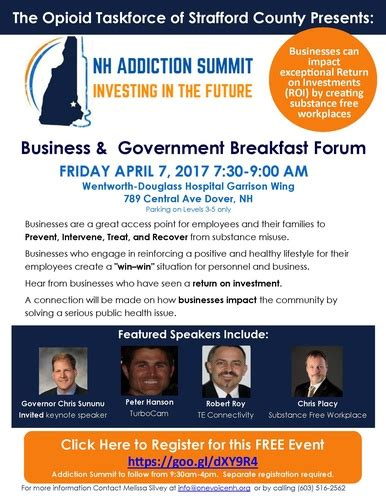 Free Detox Programs In Nh by Nh Addiction Summit Investing In The Future Apr 7 2017