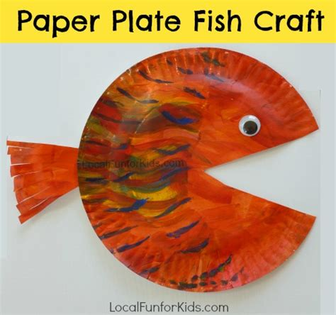 Paper Plate Fish Craft - paper plate fish craft for local for