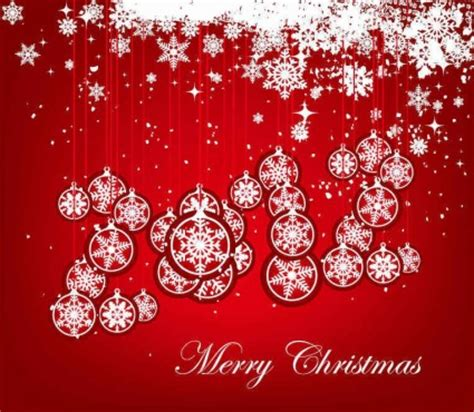 background natal merah natal bola kepingan salju merah latar belakang vector