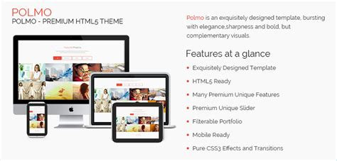 polmo one page free html5 responsive website template