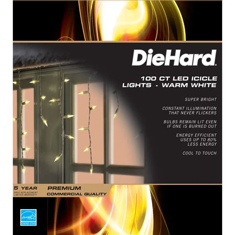 toyo electric christmas lights upc 029944518310 diehard led icicle lights warm white 2 pack 100 ct toyo electric
