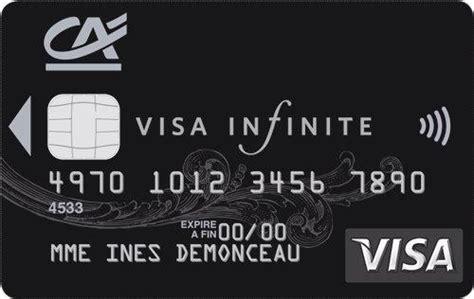 comparatif des cartes visa infinite billet de banque