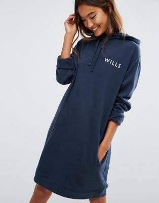 wills wills oversized navy hoodie