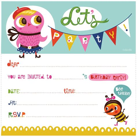 create birthday party invitations online free example online