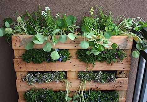pallet garden container d i y shipping pallet vertical garden improvised