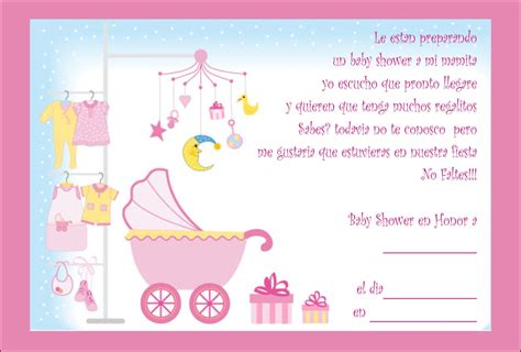 Baby Shower For by Tarjetas Para Baby Shower De Ni 241 A Tarjetas Para Baby Shower