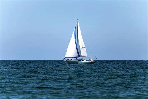 sailboat on lake sailboat on lake ontario photograph by david stasiak