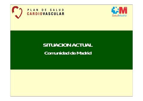 madrid comunidad de madrid d g de la mujer plan de salud cardiovascular de la comunidad de madrid