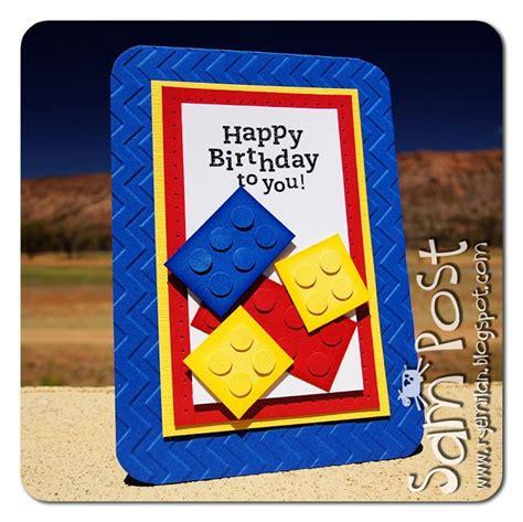 Birthday Card Lego Lego Punch Art Children S Birthday Cards Pinterest