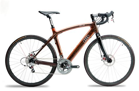 audi bicycle audi and renovo partner on two wheeled wooden sculpture