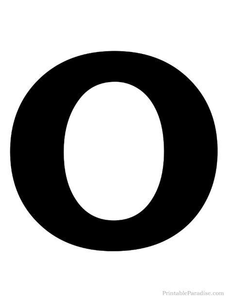 Printable Solid Black Letter O Silhouette | Harfler ... O