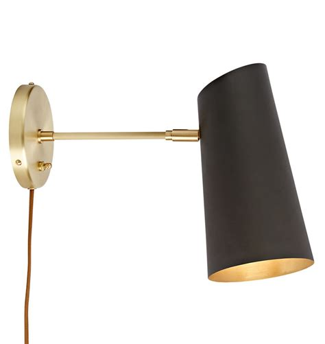 small wall l plug in bl swing arm plug in wall sconce by gubi lights and ls