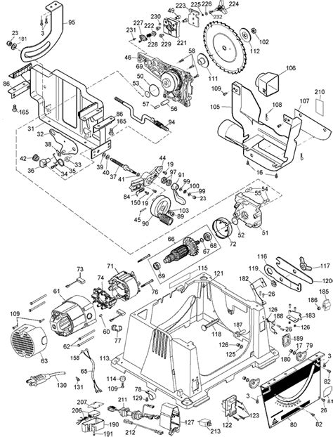 dewalt table saw parts dewalt dw744 portable table saw parts type 5 parts