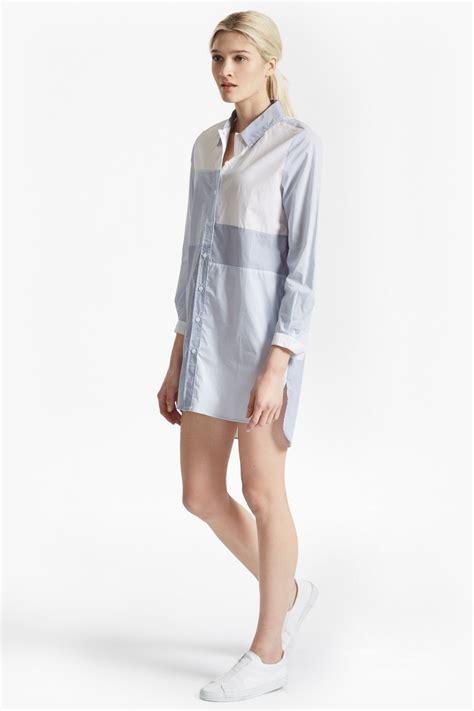 Stripe Oversized Shirt city stripe oversized shirt dress collections