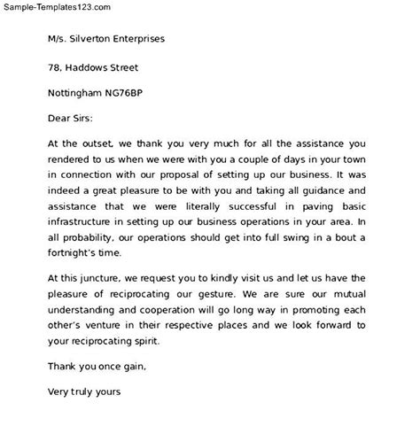 Thank You Letter Introduction Thank You For Your Business Letter To Client Sle Templates
