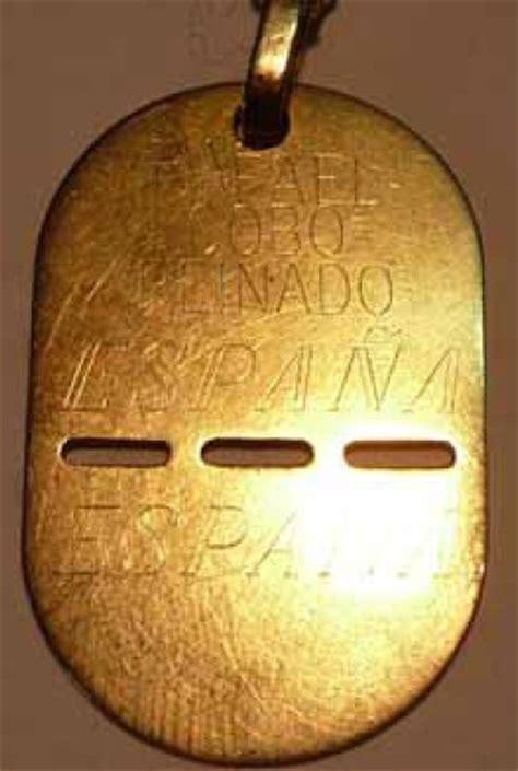 cadenas con chapas militares chapas militares en oro o en plata
