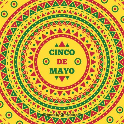 cinco de mayo background cinco de mayo ethnic colorful background vector free