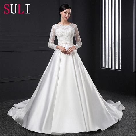 White Bridal Gowns by Sl028 White Vestido De Noiva Lace Bridal Gown Beading