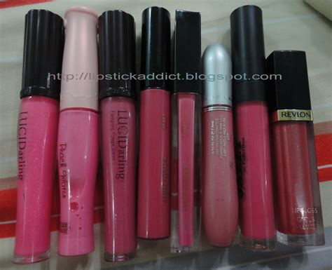Lip Gloss Etude lipgloss swatches from etude revlon prestige and