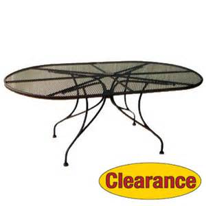 Oval Wrought Iron Patio Table Patio Furniture Wrought Iron 71 Quot X 42 Quot Oval Dining Table Wrought Iron Furniture