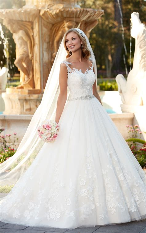 wedding and bridal dresses lace and tulle gown wedding dress stella york