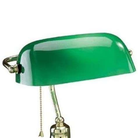Upgradelights Replacement Glass Bankers L Shade Green