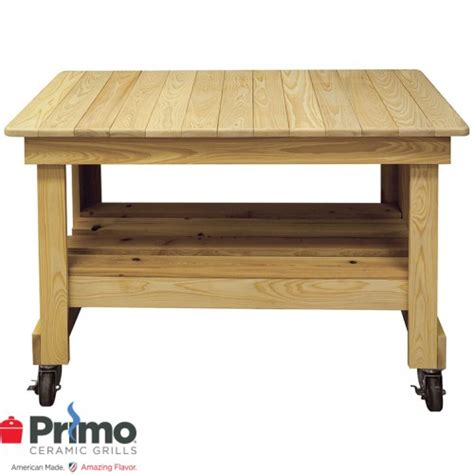outdoor table on casters primo grills collection primo cypress prep table on casters