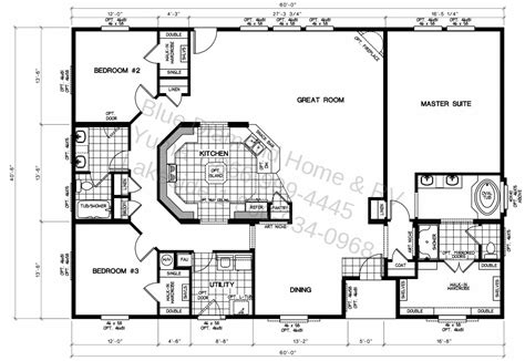 Mobile Home Blueprints | triple wide manufactured home floor plans lock you