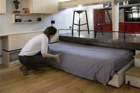tiny house slide out pull out bed