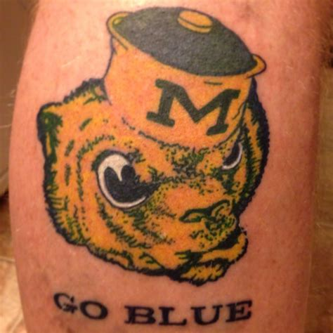 michigan tattoo pin by suzanne burke on go blue