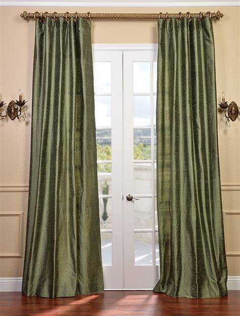 dupioni curtains restful green textured dupioni silk curtains drapes ebay