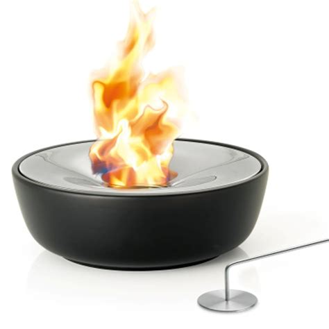 Gel Firepit Blomus Fuoco Tabletop Gel Firepit 32cm Black By Design