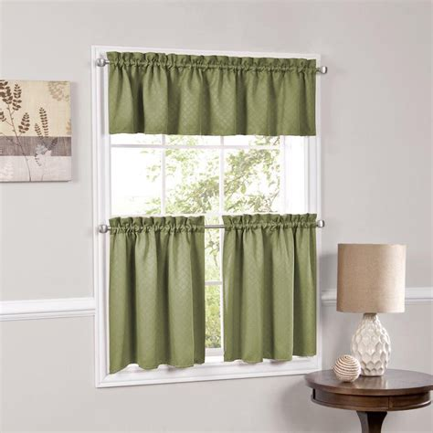 room valances facets room darkening blackout insulated kitchen curtains tier or valance ebay