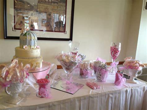 bridal shower table bridal shower candy table wedding ideas pinterest