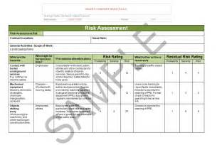 risk statement template landscaping risk assessment seguro