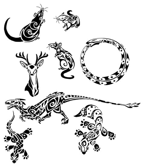year of the rat tattoo designs tribal rats and lizards by basiliskzero on deviantart