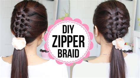 best way to braid hair for a sew in zipper braid hair tutorial 2 ways braided hairstyles