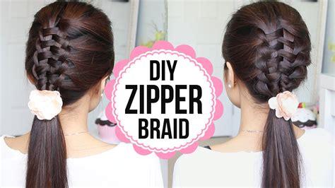 zipper braid hair tutorial  ways braided hairstyles youtube