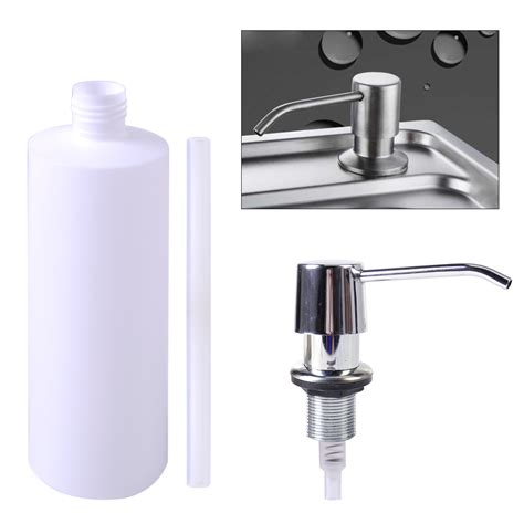 Soap Holder For Kitchen Sink Bathroom Sink Liquid Soap Holder Dispenser Plastic Kitchen Lotion Storage Bottle