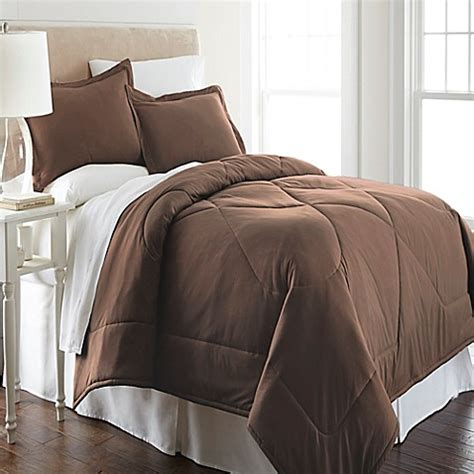 twin flannel comforter buy micro flannel 174 twin comforter set in chocolate from