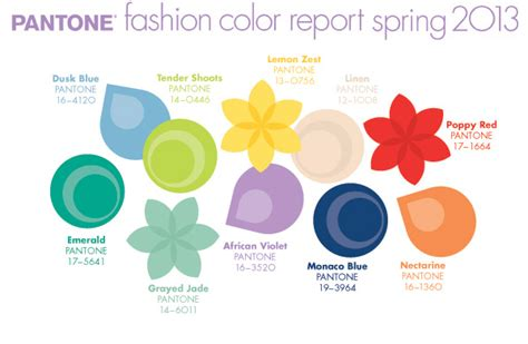pantone color report 2013 spring colors bright whimsical wedding flower